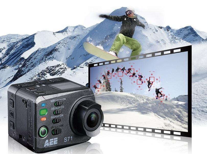 Камера AEE S71 4K 120 Frames Speed обладает водонепроницаемым чехлом