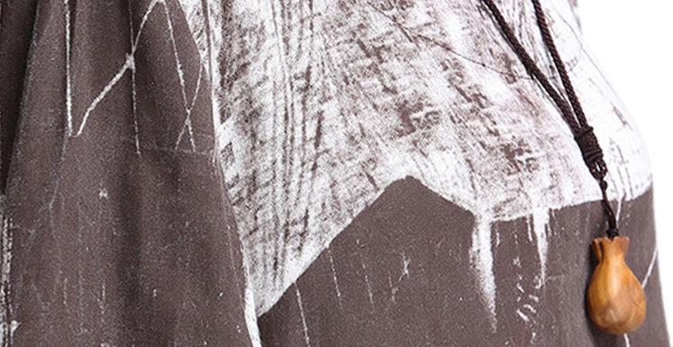 Какие аксессуары подойдут для платья Women Vintage Painting Printed Linen High Low Swing Dress