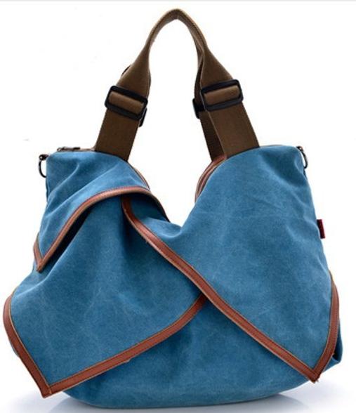 С чем носить Canvas Portable Tote Handbags Flower Design Shoulder Bags Crossbody Bags Big Bags