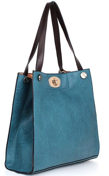 aa0219b571e9 Обзор сумки-шоппера из комплекта Women Leisure PU Leather Big Tote Shoulder  Bag