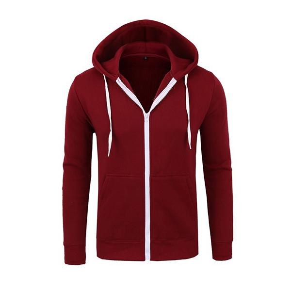 Обзор Mens Casual Zipper Hoodies Solid Color Outdoor Sport Autumn Winter
