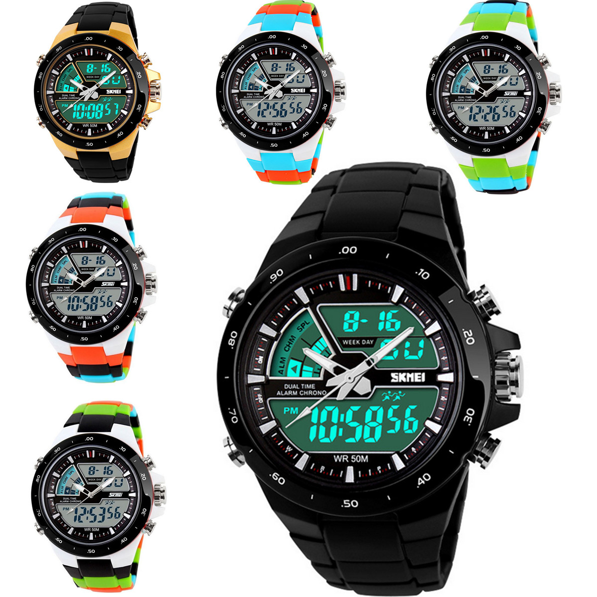 Обзор технических характеристик часов SKMEI AD1016 Analog Digital Multi-function Waterproof Men Sport Wrist