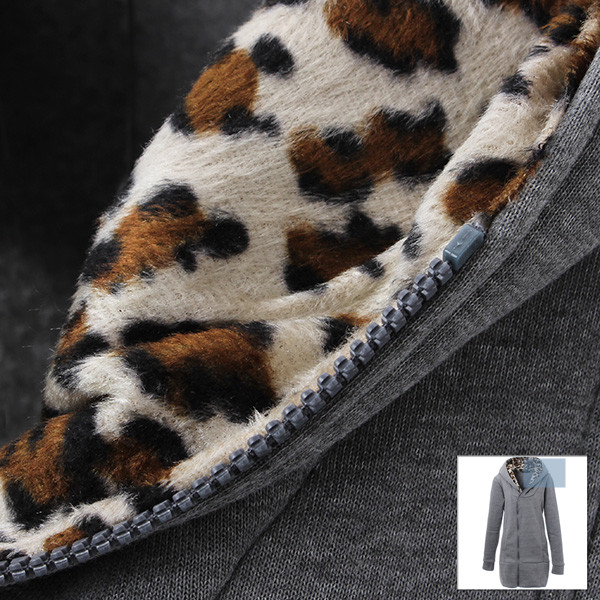 Обзор женской толстовки M-4XL Leopard Hooded Zipper Coat