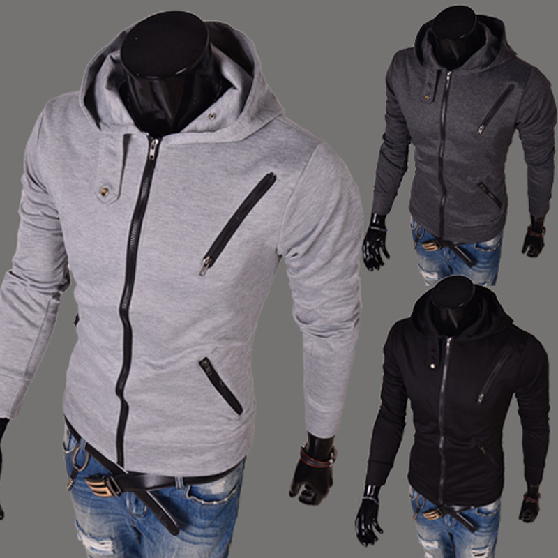 Стилистический разбор толстовки Mens Sweatshirt Solid Color Fashion Sweaters Multi Zipper Casual Hoodies