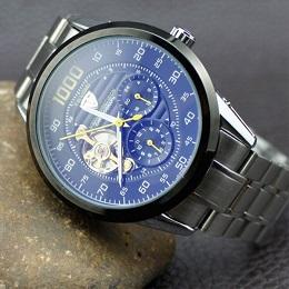 Часы Men Watch Tevise 8378 Stainless Steel Automatic Mechanical Countdown имеют прозрачную тыловую поверхность