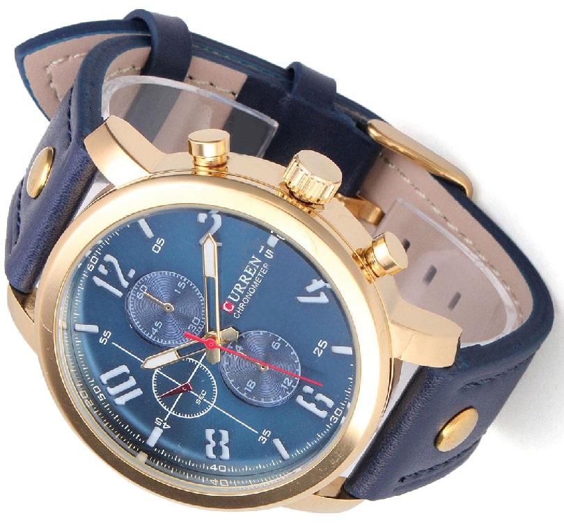 Часы Wrist Curren Man Sport Analog Quartz Fashion Leisure Leather Black Alloy обладают стильным внешним видом