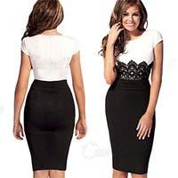 Классическое короткое платье с элементами дресс-кода