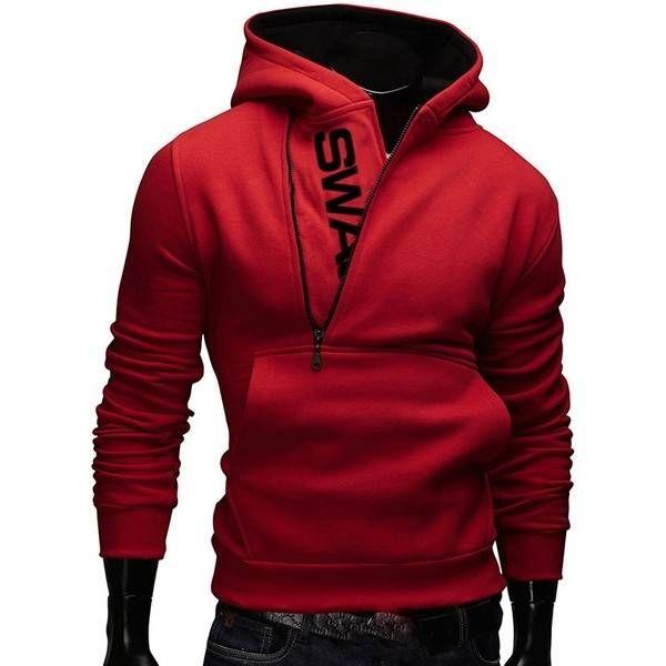 Обзор яркой и стильной мужской толстовки Mens Side Zipper Hoodies Mens Jersey Sports Outdoor Turn Down Collar