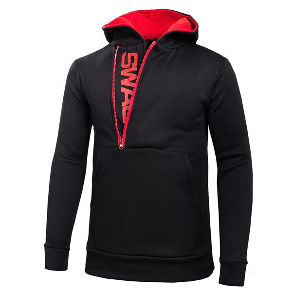 Как правильно сочетать Mens Side Zipper Hoodies Mens Jersey Sports Outdoor Turn Down Collar в неформальном образе