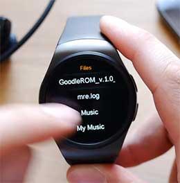 В сотовом телефоне часы отображаются как KW18. Самой первой опцией часов является возможноть звонка. После нажатия на нее, появляется меню для набора номера.