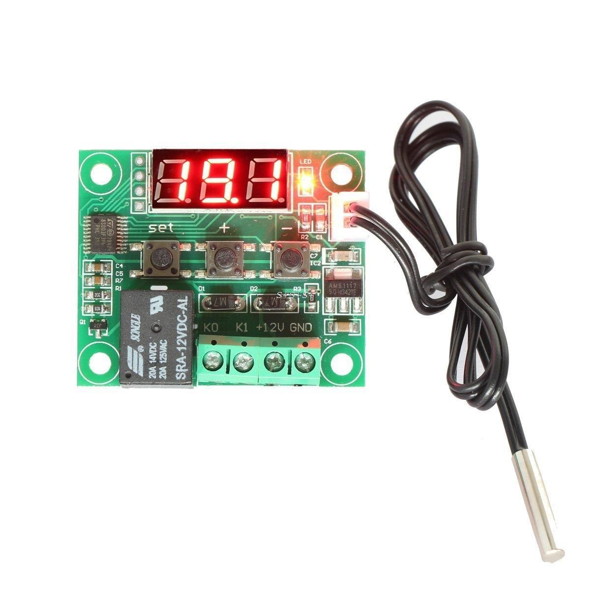 """Если зажать кнопку """"сет"""" на пять и более секунд, то W1209 перейдет в режим настроек. Доступны следующие настройки:"""
