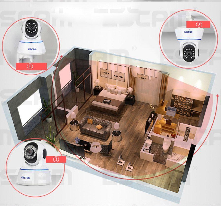Камера ESCAM qf002 очень легко и быстро подключается к сети