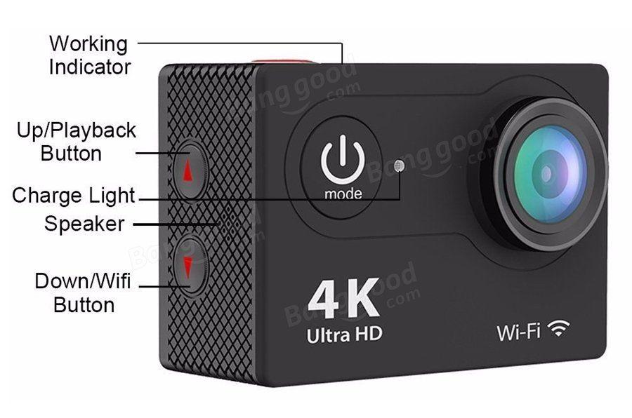 Камеру Eken H9 можжно использовать в качестве видео-регистратора, для этого ее нужно перевести в режим циклической записи. Кроме всего прочего камера может делать фотоснимки. Максимальное разрешение одного снимка составляет 12 мегапикселей.