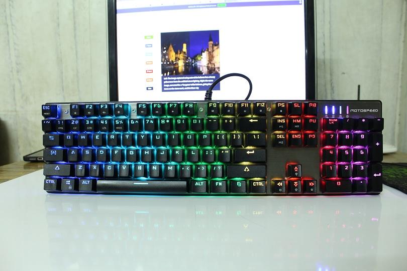 Клавиатура Motospeed Inflictor CK104 обладает подсветкой