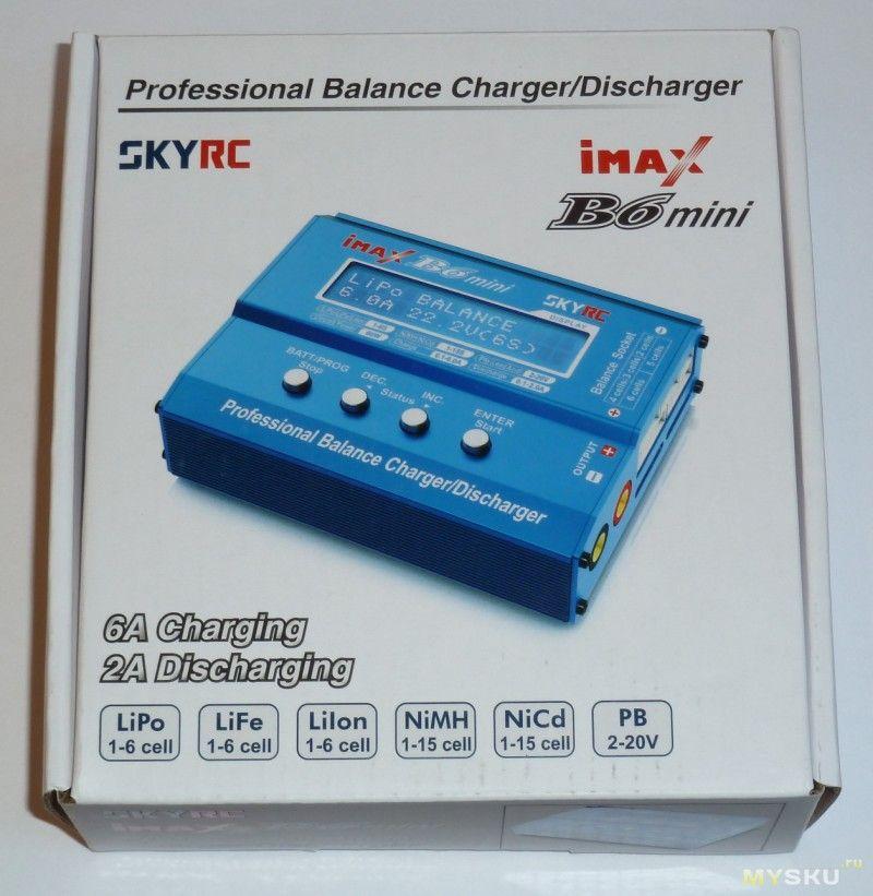 Данное зарядное устройство skyrc imax b6 мини может заряжать аккумуляторы с напряжением выше 14.4 Вольта. Если же напряжение ниже, то аккумулятор будет просто кипеть.