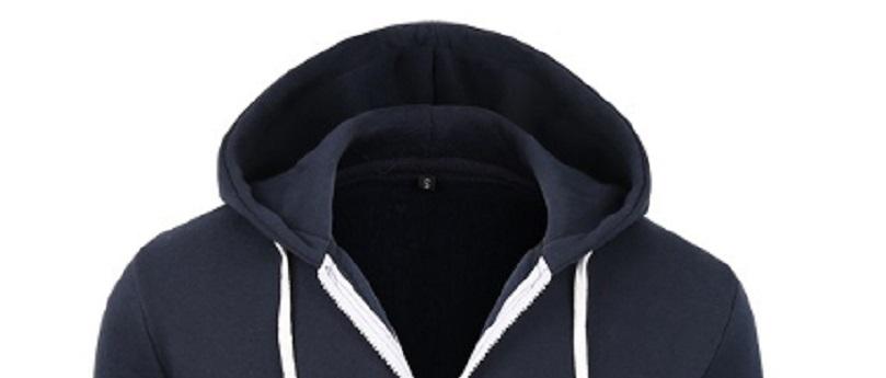 С чем носить Mens Casual Zipper Hoodies Solid Color Outdoor Sport Autumn Winter
