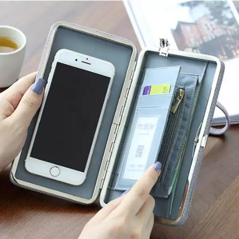 Обзор классичсекого женского клатча Women Candy Color Bowkot 5.5 Inch Phone Wallets Case Hasp Long Purse